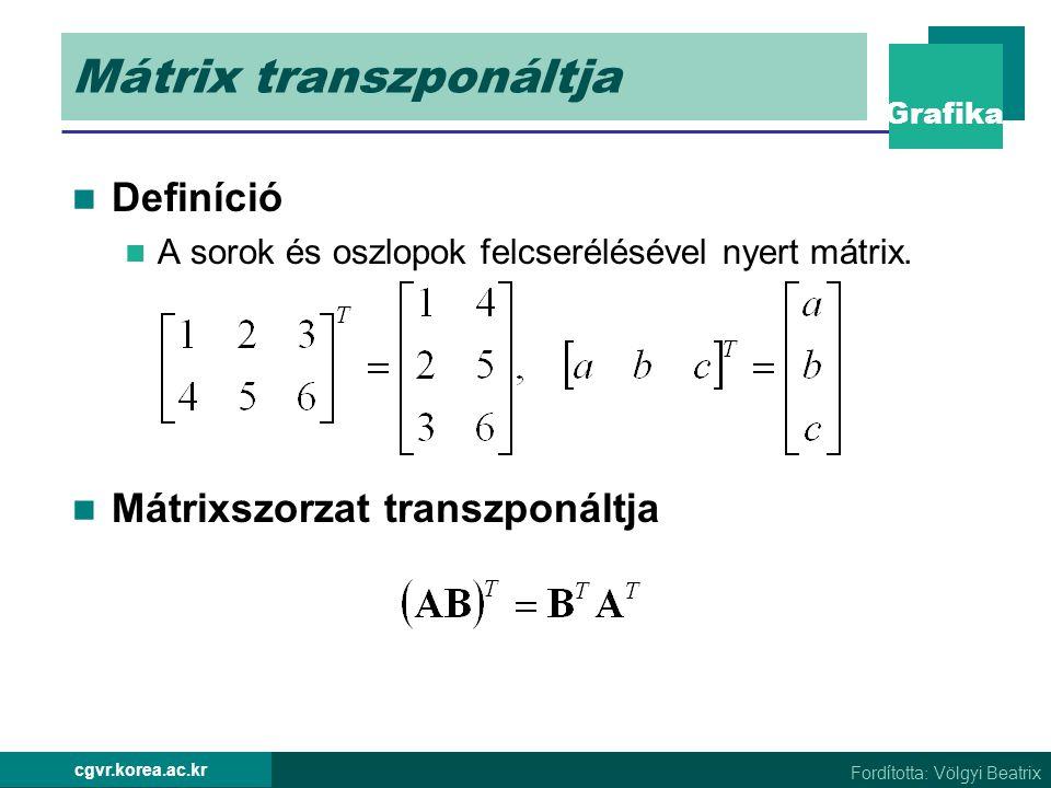 Mátrix transzponáltja