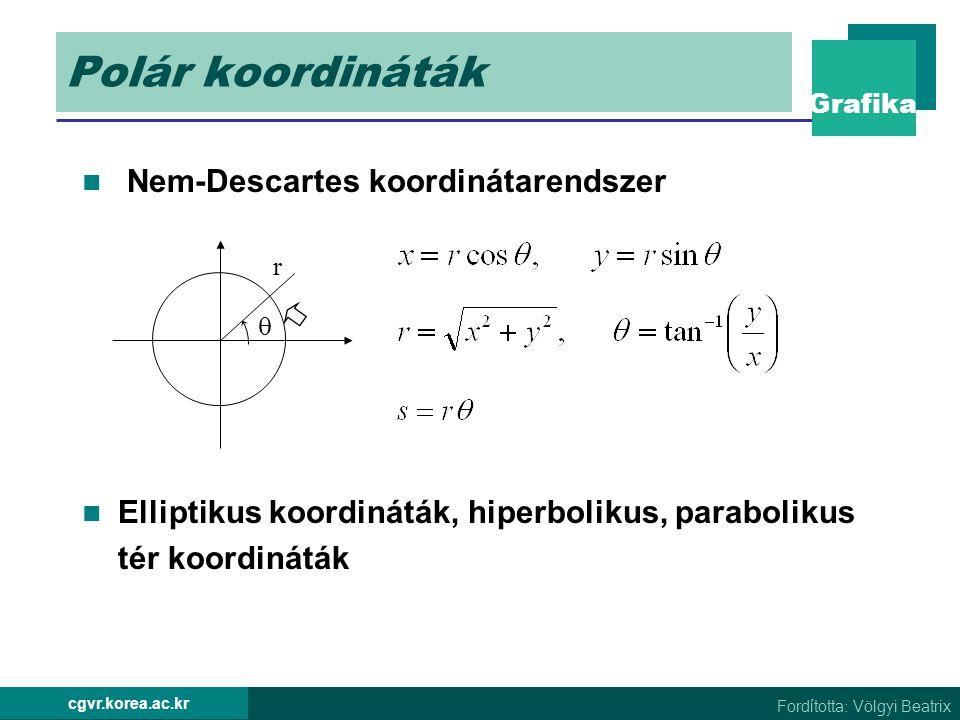 Polár koordináták Nem-Descartes koordinátarendszer