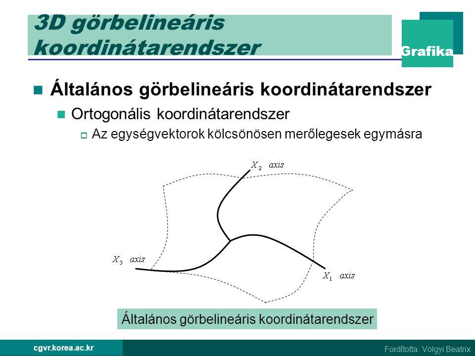 3D görbelineáris koordinátarendszer