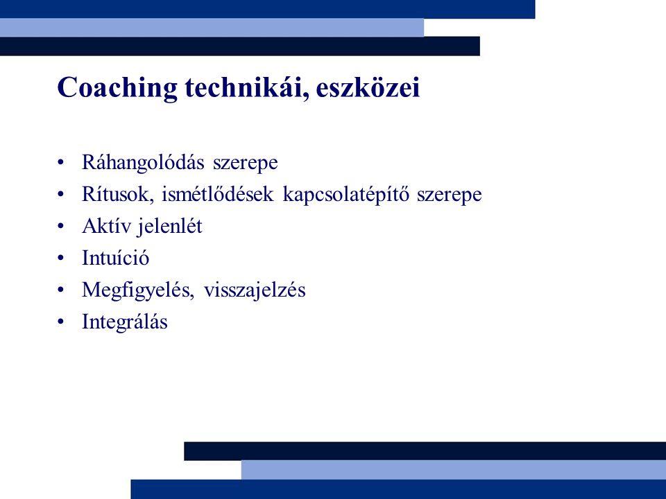 Coaching technikái, eszközei