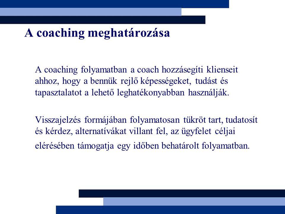 A coaching meghatározása