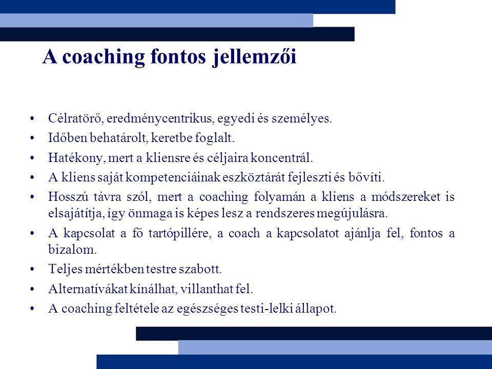 A coaching fontos jellemzői
