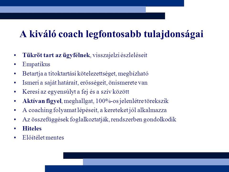 A kiváló coach legfontosabb tulajdonságai