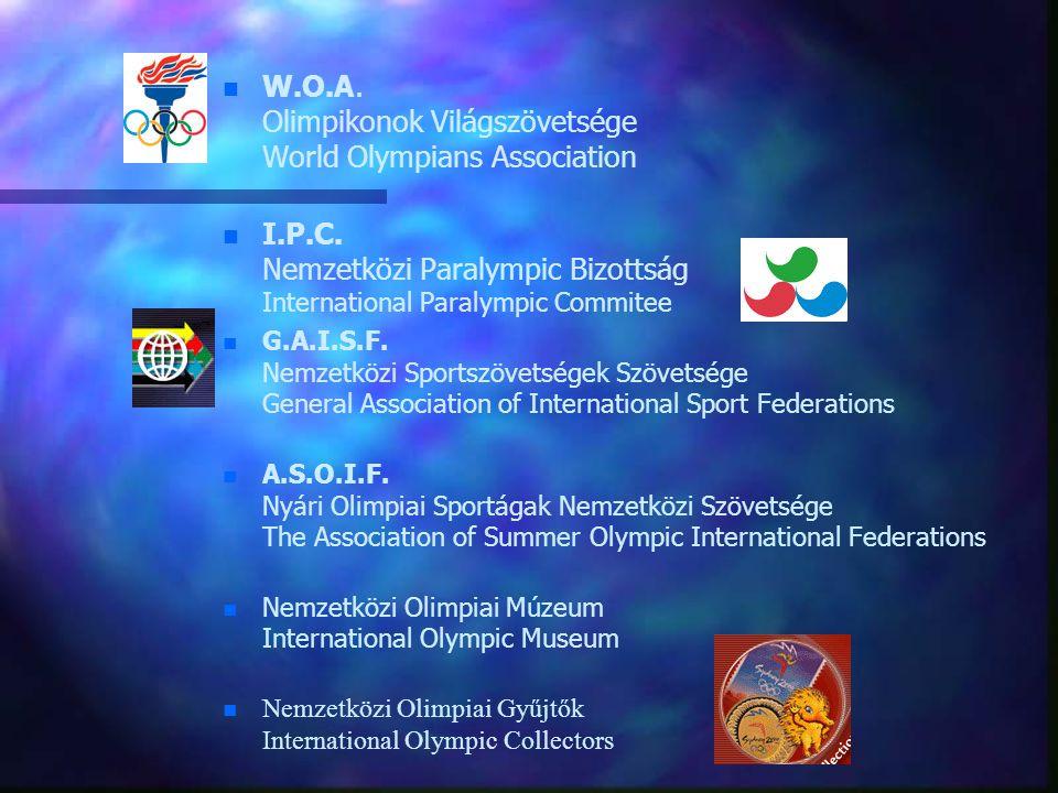 W.O.A. Olimpikonok Világszövetsége World Olympians Association