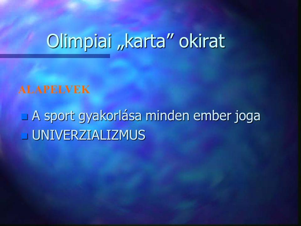 "Olimpiai ""karta okirat"