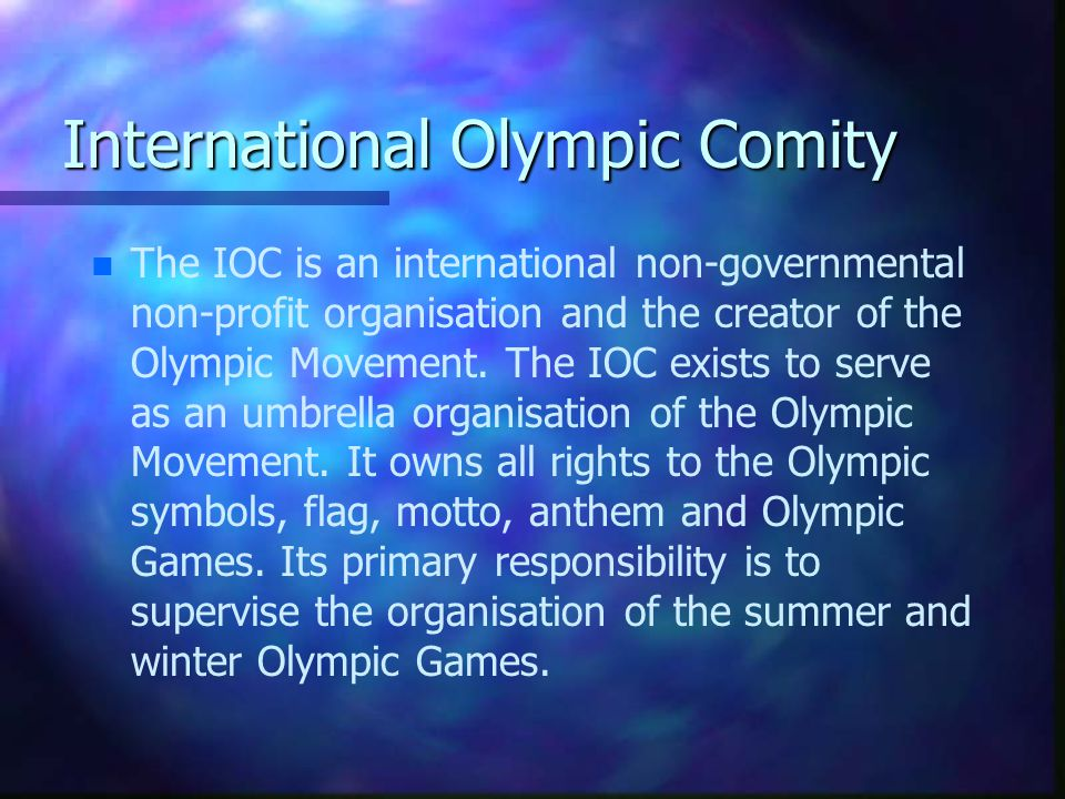 International Olympic Comity