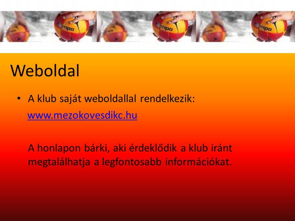 Weboldal A klub saját weboldallal rendelkezik: www.mezokovesdikc.hu