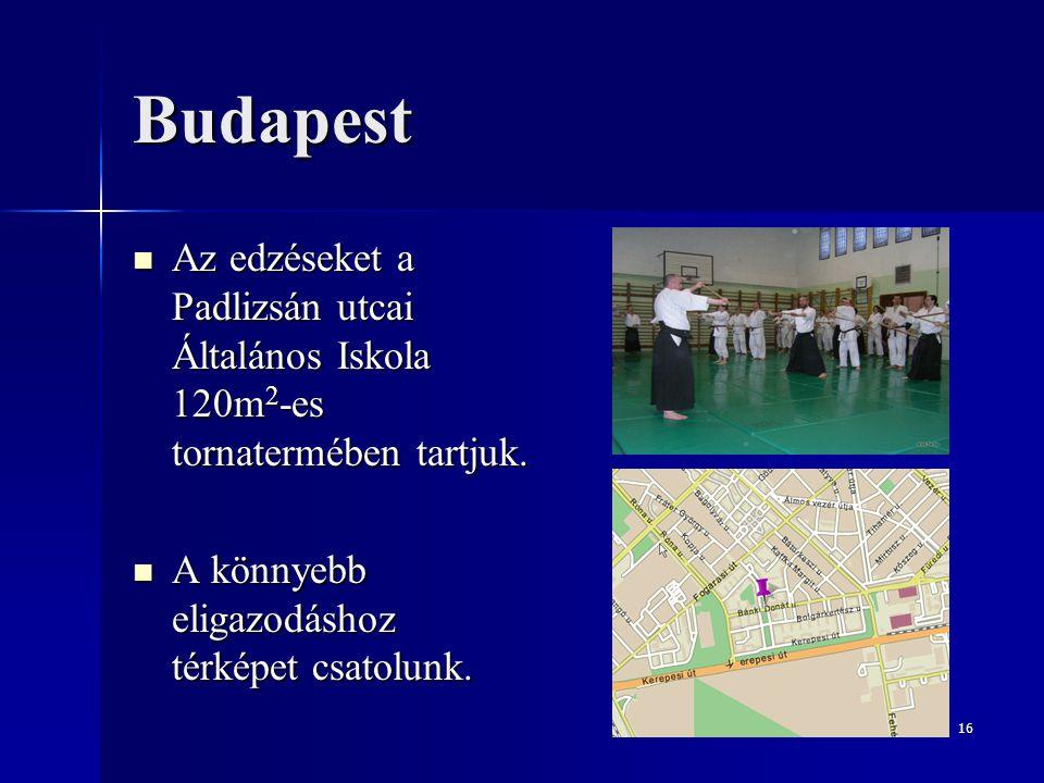Budapest Az edzéseket a Padlizsán utcai Általános Iskola 120m2-es tornatermében tartjuk.