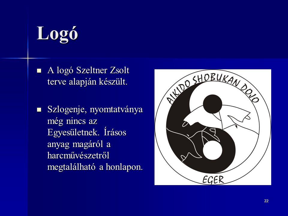 Logó A logó Szeltner Zsolt terve alapján készült.