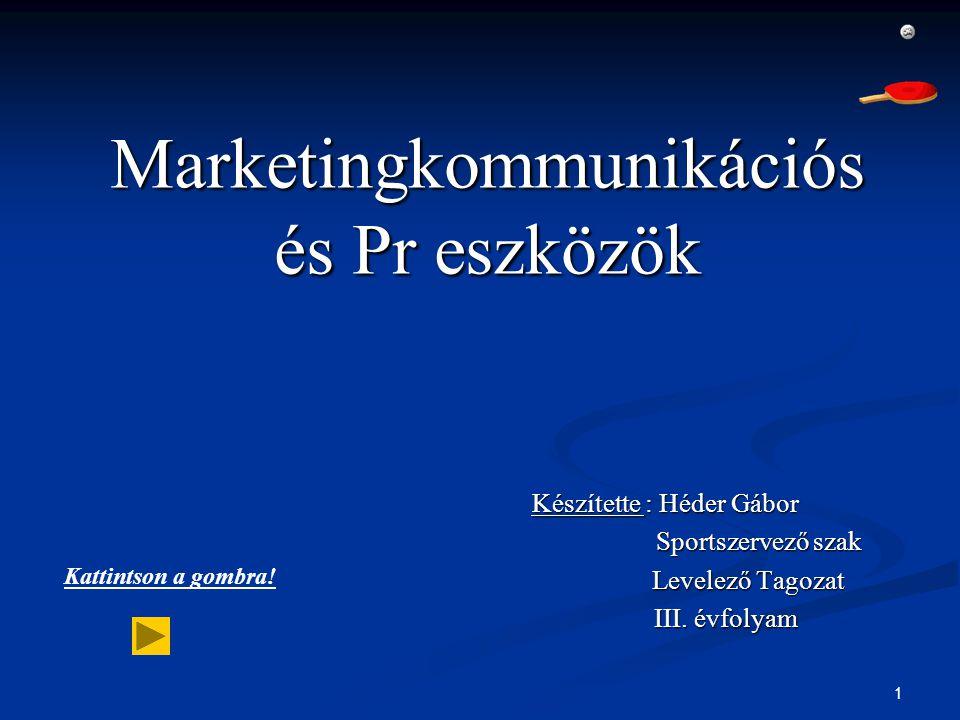 Marketingkommunikációs és Pr eszközök