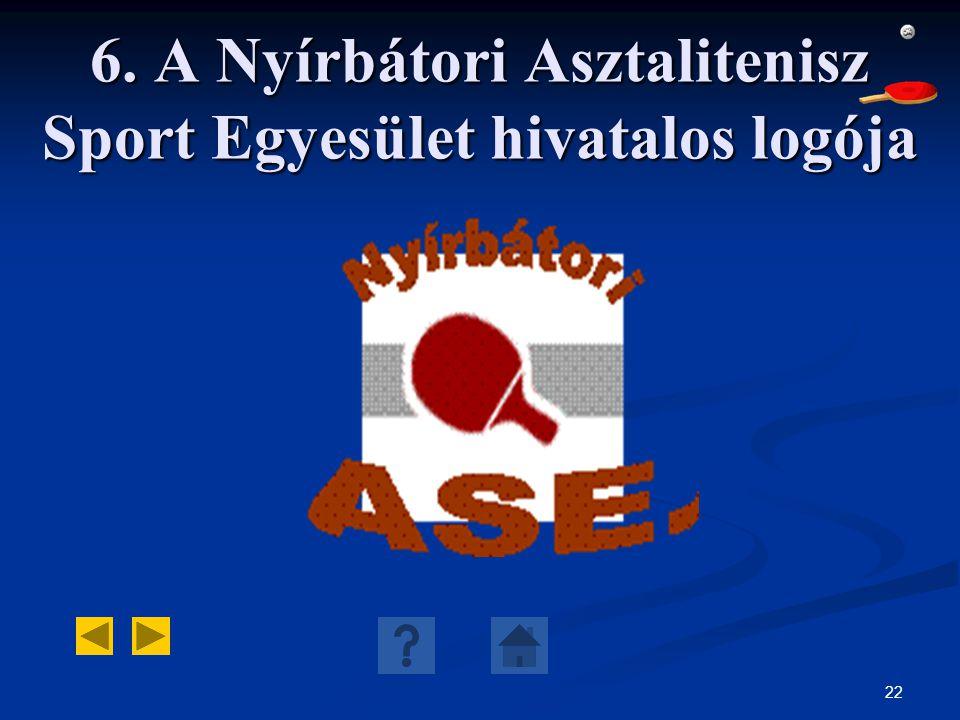 6. A Nyírbátori Asztalitenisz Sport Egyesület hivatalos logója