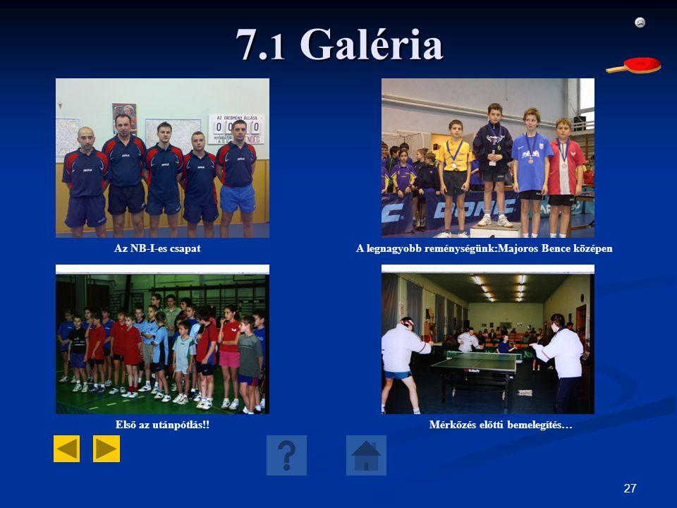 7.1 Galéria Az NB-I-es csapat