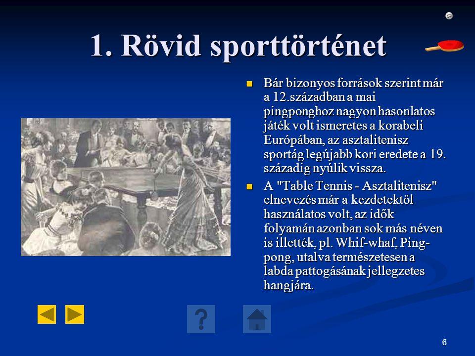 1. Rövid sporttörténet