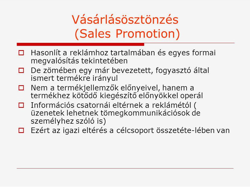 Vásárlásösztönzés (Sales Promotion)
