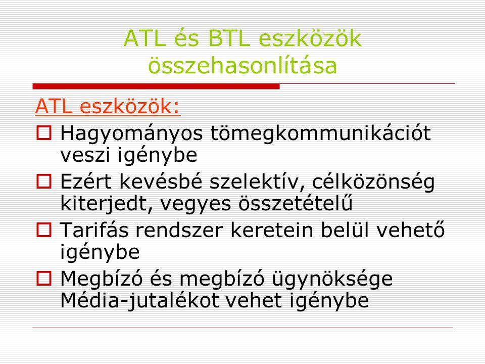 ATL és BTL eszközök összehasonlítása