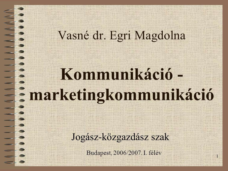 Vasné dr. Egri Magdolna Kommunikáció -marketingkommunikáció