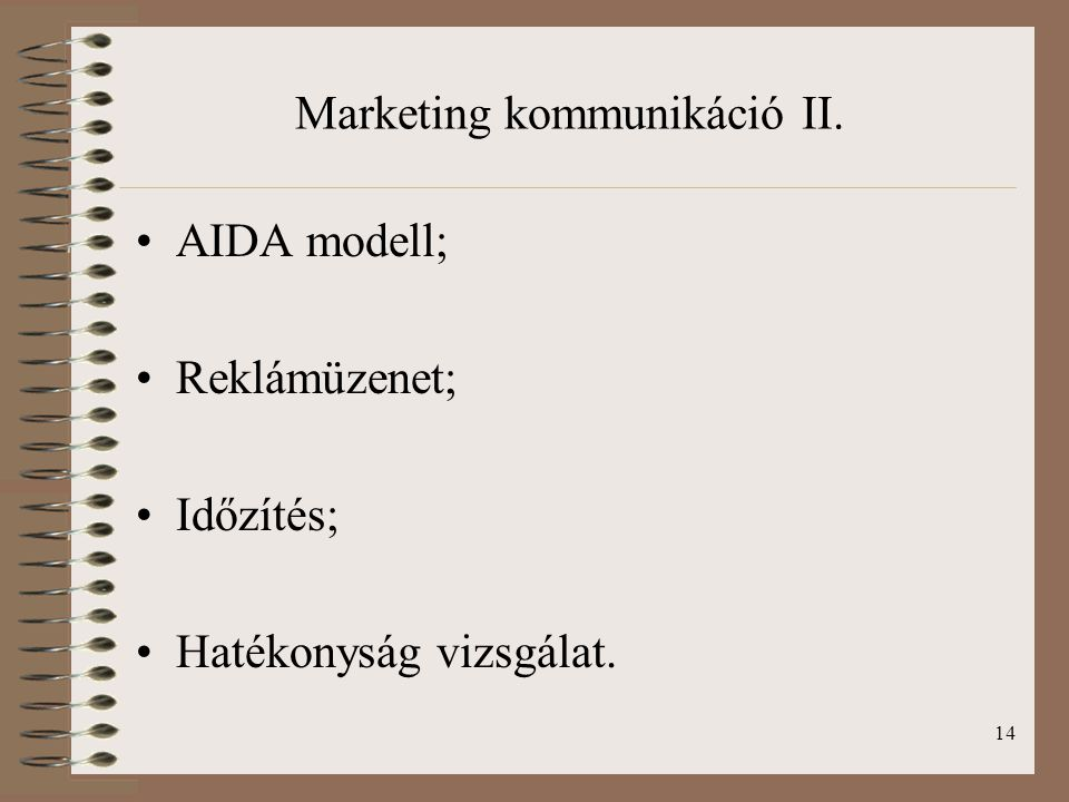Marketing kommunikáció II.