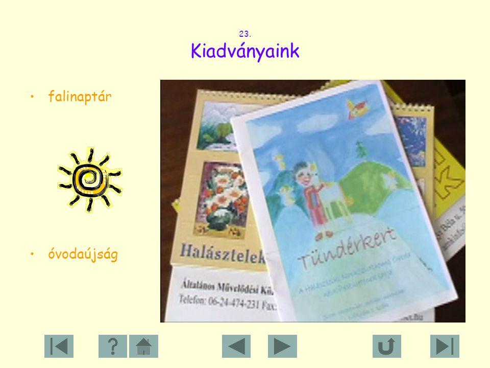 23. Kiadványaink falinaptár óvodaújság
