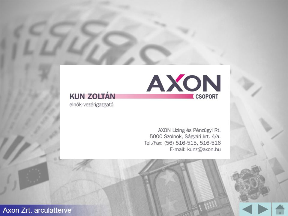 Axon Zrt. arculatterve