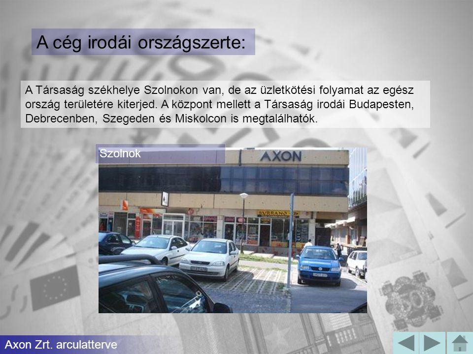 A cég irodái országszerte: