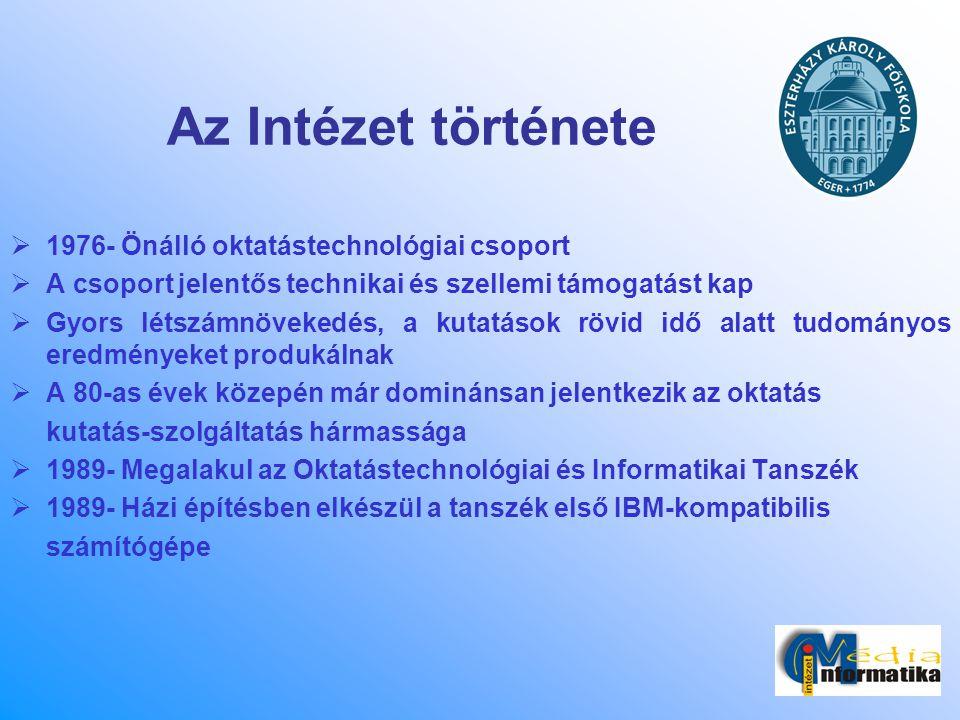 Az Intézet története 1976- Önálló oktatástechnológiai csoport
