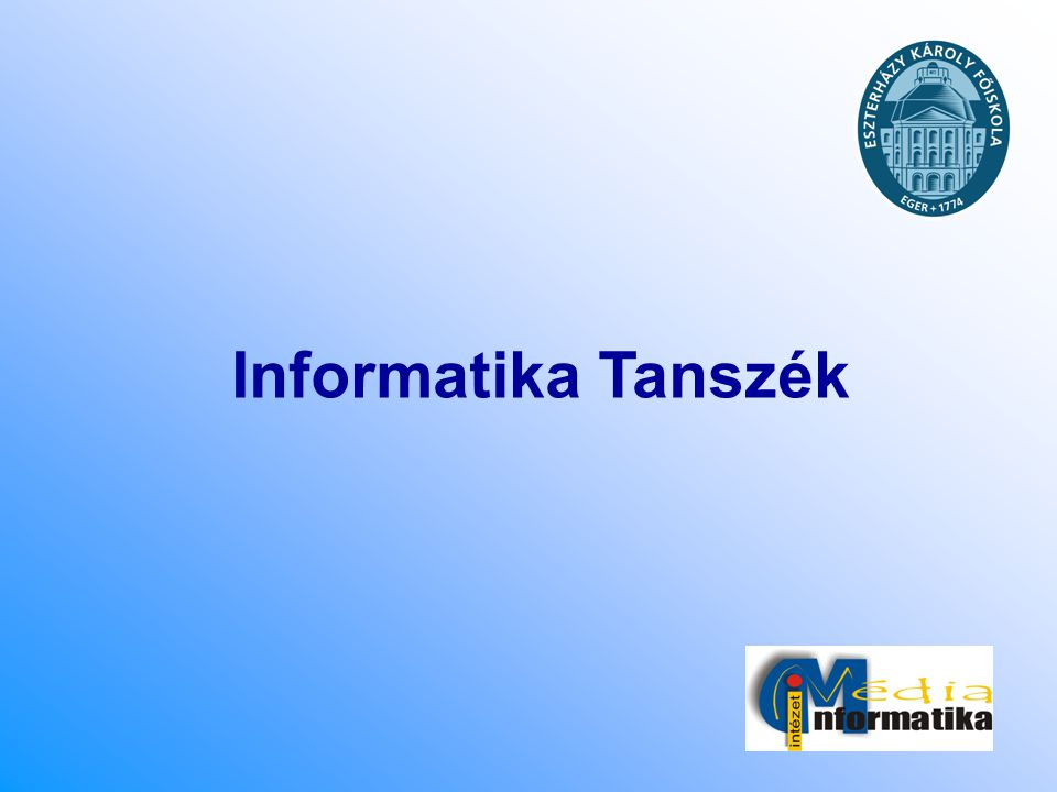 Informatika Tanszék