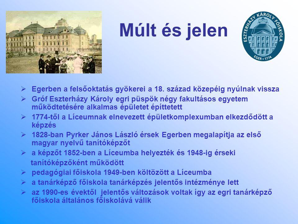 Múlt és jelen Egerben a felsőoktatás gyökerei a 18. század közepéig nyúlnak vissza.