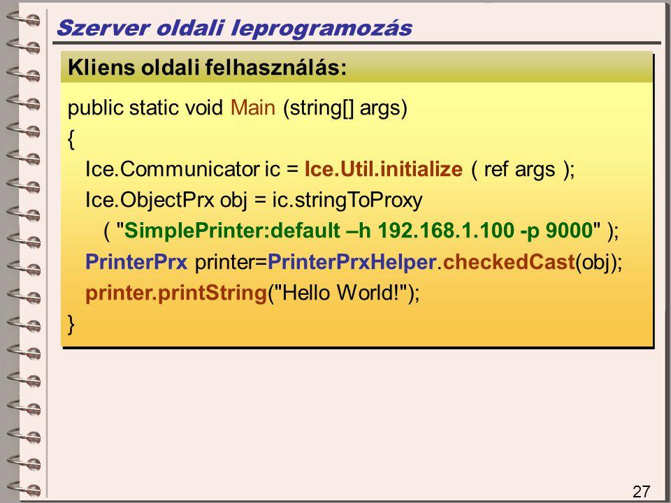 Szerver oldali leprogramozás