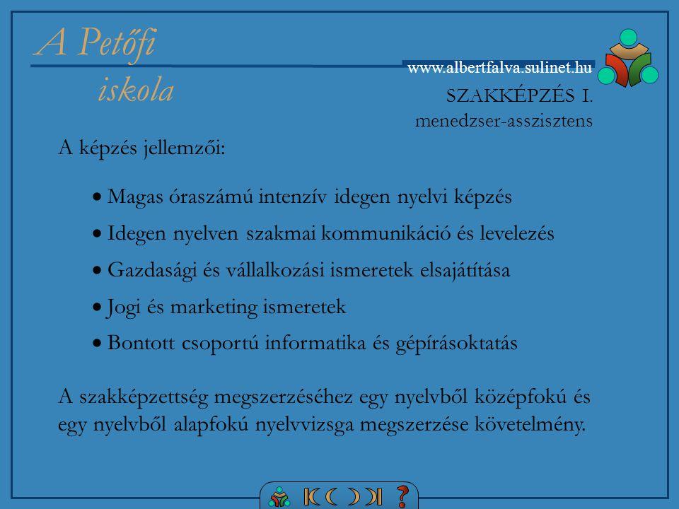 SZAKKÉPZÉS I. menedzser-asszisztens