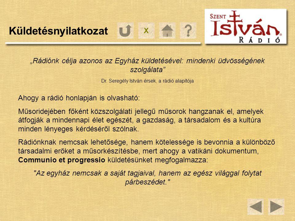 Dr. Seregély István érsek, a rádió alapítója