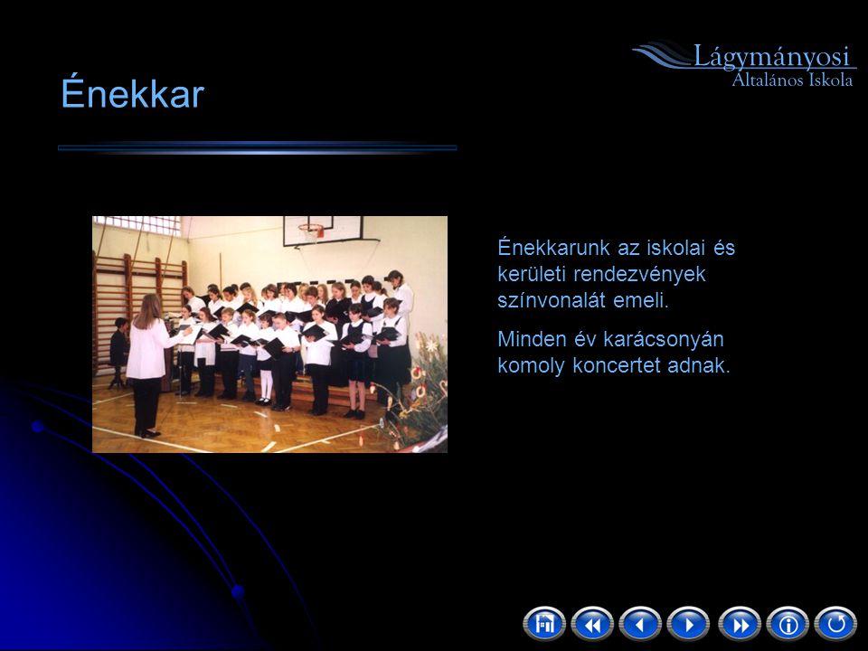 Énekkar Énekkarunk az iskolai és kerületi rendezvények színvonalát emeli.