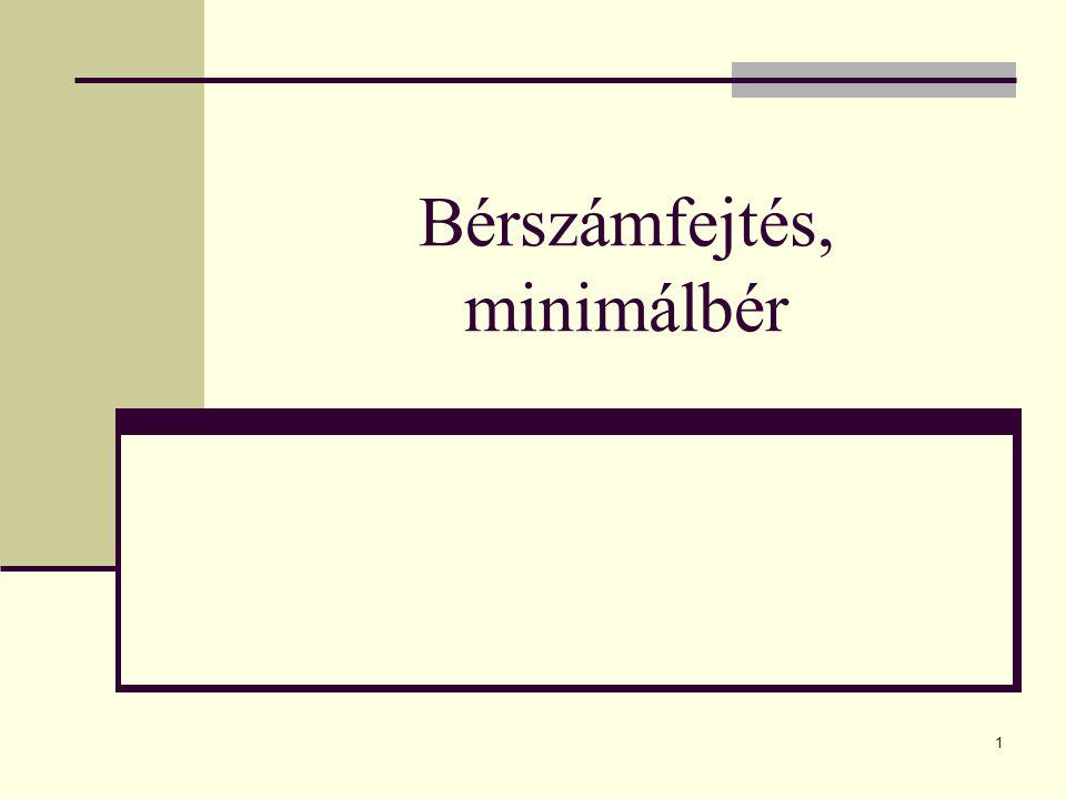 Bérszámfejtés, minimálbér