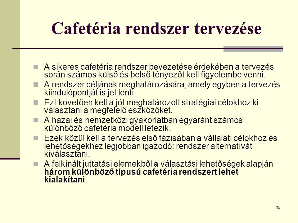 Cafetéria rendszer tervezése
