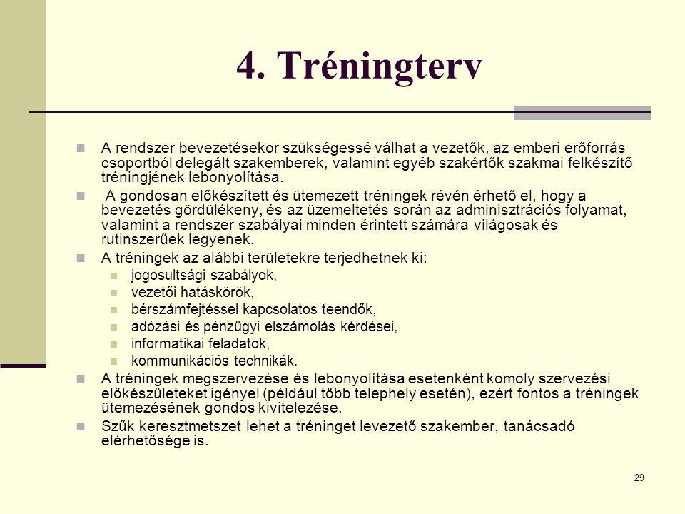 4. Tréningterv