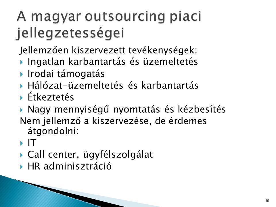 A magyar outsourcing piaci jellegzetességei