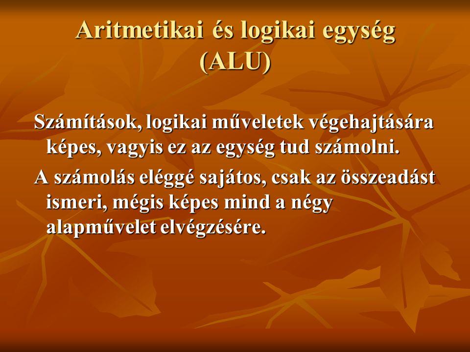Aritmetikai és logikai egység (ALU)