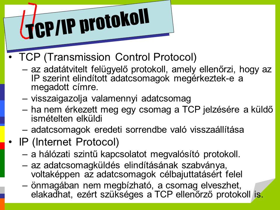 TCP/IP protokoll TCP (Transmission Control Protocol)