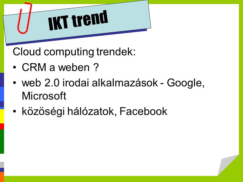IKT trend Cloud computing trendek: CRM a weben