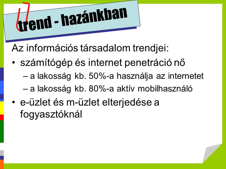trend - hazánkban Az információs társadalom trendjei: