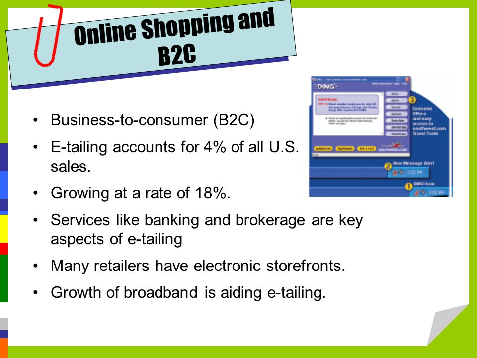 Online Shopping and B2C Business-to-consumer (B2C)