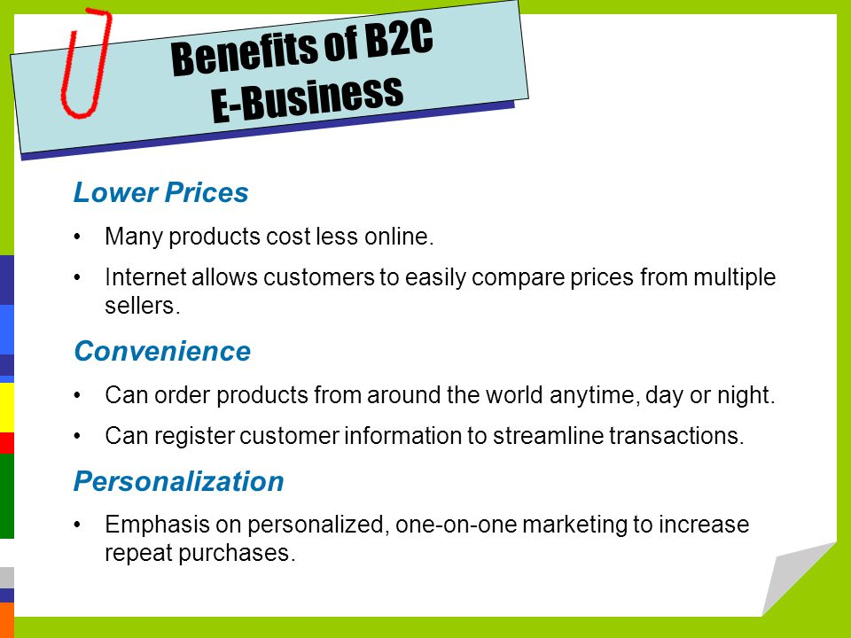 Benefits of B2C E-Business