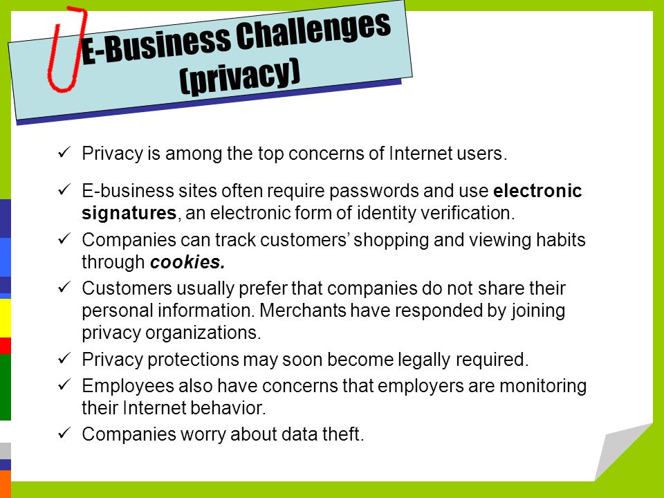 E-Business Challenges (privacy)