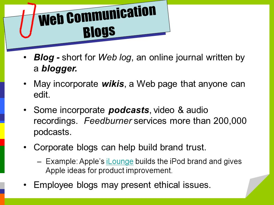 Web Communication Blogs