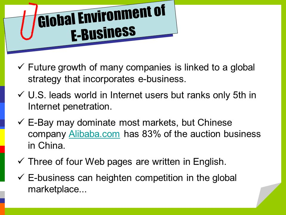 Global Environment of E-Business