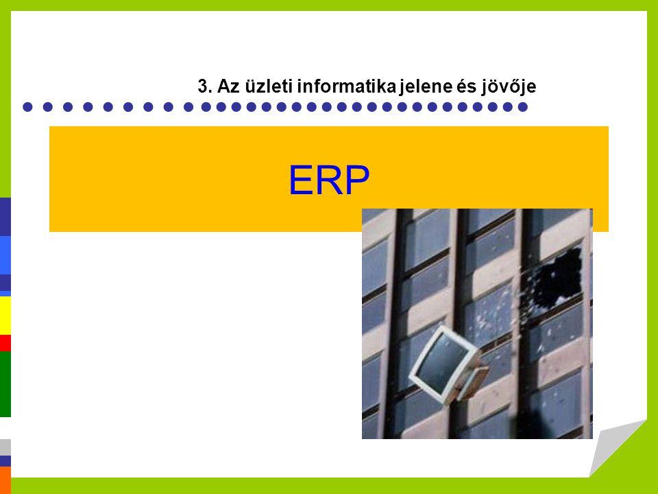 ERP 3. Az üzleti informatika jelene és jövője