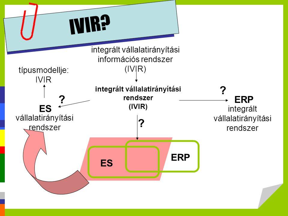 integrált vállalatirányítási rendszer (IVIR)