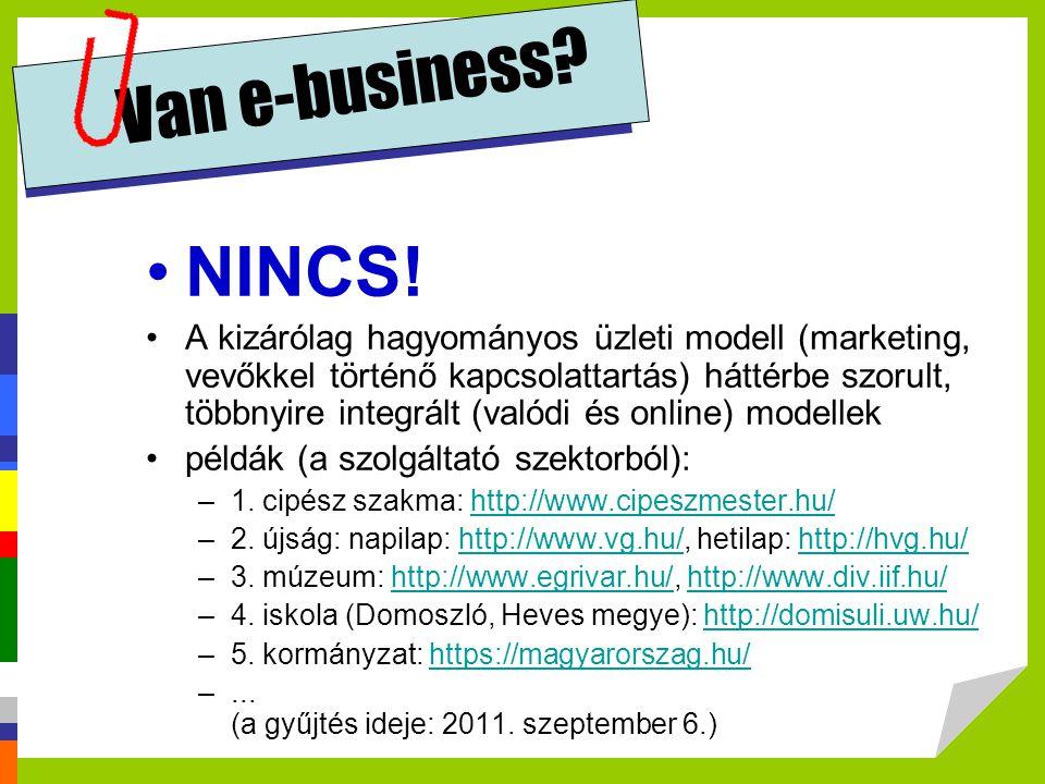 Van e-business NINCS!