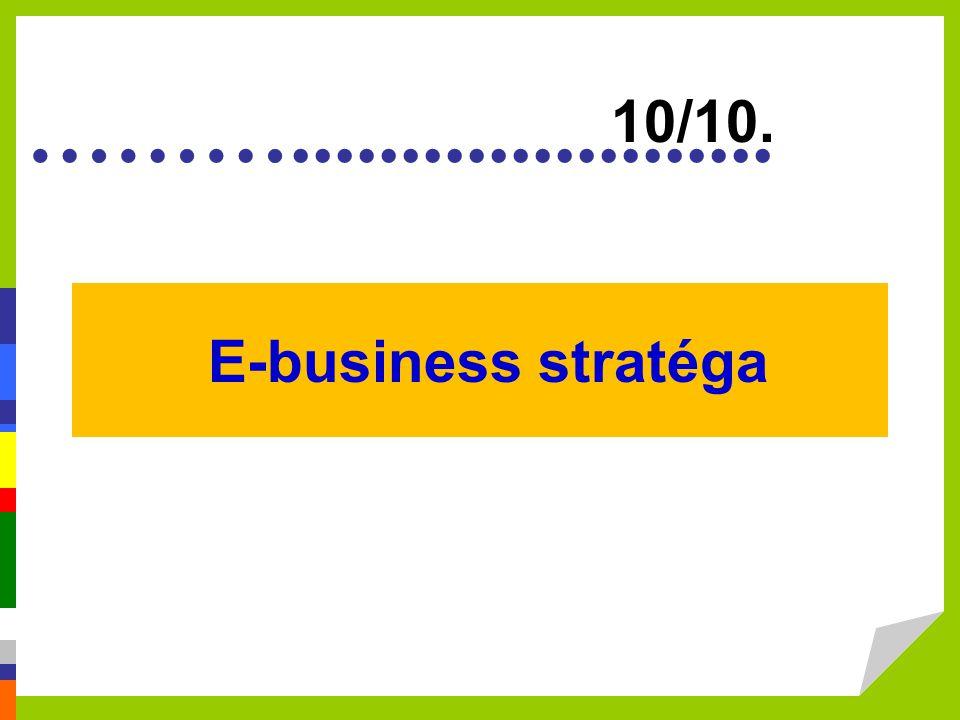 10/10. E-business stratéga