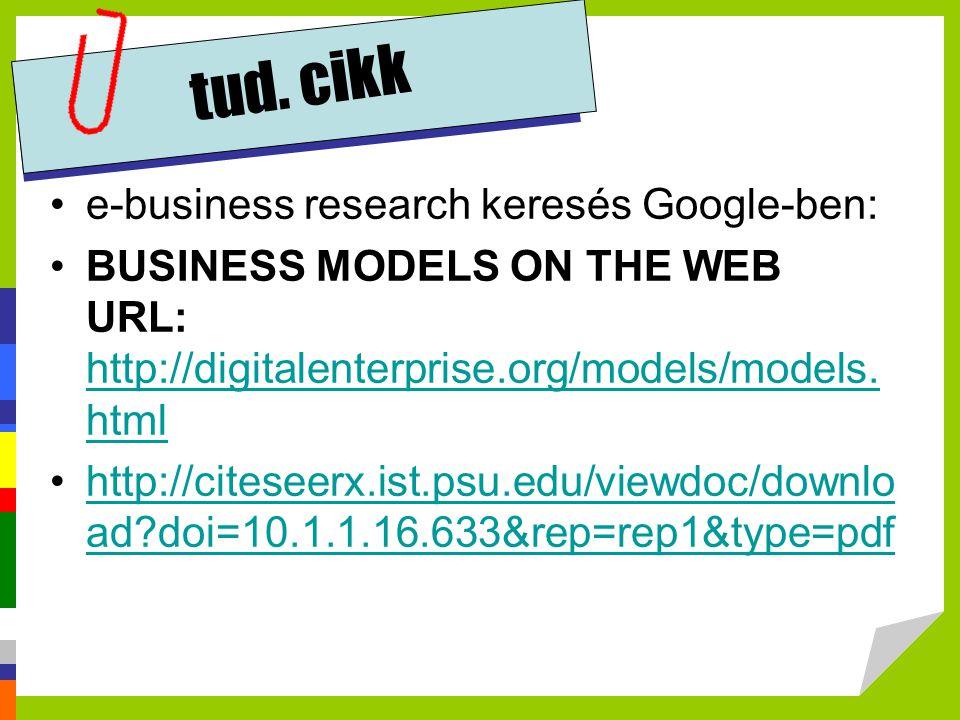 tud. cikk e-business research keresés Google-ben: