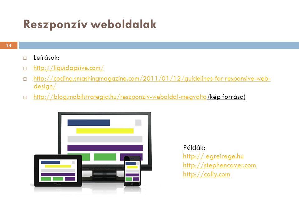 Reszponzív weboldalak